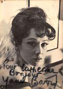 YANE BARRY- ACTRICE FRANCAISE - Autographes