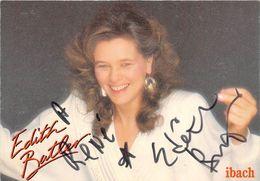EDITH BATLER- CHANTEUSE - Autographes