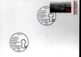 ALLEMAGNE  Carte  FDC  1994 Cimetiere Guerre - WW2
