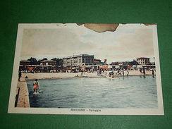 Cartolina Riccione - Spiaggia 1930 Ca - Rimini