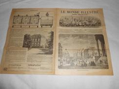 Journal LE MONDE ILLUSTRE 1861 - Gravures - Publicités - Voir Description - Chemin De Fer Régates Marseille Vichy ... - 1850 - 1899