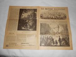 Journal LE MONDE ILLUSTRE 1861 - Gravures - Publicités Voir Description - Ballon La Gloire, Piano, Pont Lyon, Exposition - 1850 - 1899