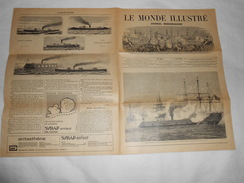 Journal LE MONDE ILLUSTRE 1862 - Gravures - Publicités Voir Description - Guerre Amérique, , Bateaux - Journaux - Quotidiens