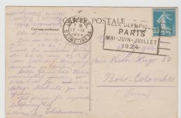 Oy185 /  Olympiade, Werbestempel Für Paris 1924 Von Le Havre - Summer 1924: Paris