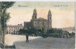 VARSOVIE    -    POLOGNE    -    KOSCIOL  W . W .  S  W .        En  1900     ( 1 Angle Cassé )    -   %. - Poland
