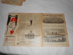 Journal LE MONDE ILLUSTRE 1865 - Gravures - Publicités Voir Description - Bateau Cigare Londres, Pétrole Amérique, Photo - Journaux - Quotidiens