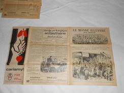 Journal LE MONDE ILLUSTRE 1871 - Gravures - Publicités Voir Description - Guerre De 1870 Ballon Poste , Wagons Batterie - Journaux - Quotidiens