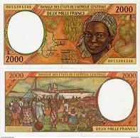 CENTRAL AFRICAN STATES   L: Gabon    2000 Francs    P-403Lg       (20)00       UNC - Central African States
