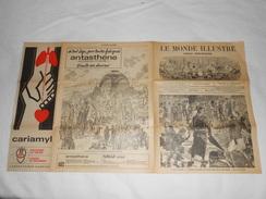 Journal LE MONDE ILLUSTRE 1878 - Gravures - Publicités Voir Description - Exposition Universelle - Journaux - Quotidiens