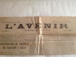 L'AVENIR, Journal De,  L'ARIEGE, Aout 1911 - Autres
