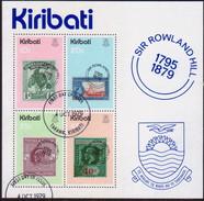 KIRIBATI 1979 SG #MS104 M/s Used Sir Rowland Hill - Kiribati (1979-...)
