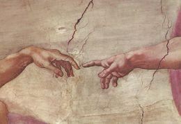 The Vatican City.  Sistine Chapel. The Creation Of Man (detail).   # 6554 - Vatican