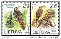 LITHUANIA LITUANIE 2013 THE RED BOOK OF LITHUANIA. BIRDS OISEAUX - Lithuania