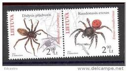 4.- LITHUANIA LITUANIE 2012 SPIDERS ARAIGNÉES ARAÑAS - Lithuania