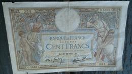 BILLET 100F AJ. 30=12=1937 . AJ. - 100 F 1908-1939 ''Luc Olivier Merson''