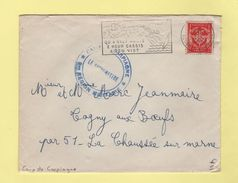 Camp De Carpiagne - Bouches Du Rhone - 28-9-1964 - FM - Marcophilie (Lettres)