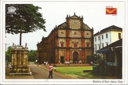 """Basilique De """"Bom Jesus"""" GOA (INDE), Unesco World Heritage, Carte Postale Adressée ANDORRA, Avec Timbre à Date Arrivée - Eglises Et Couvents"""