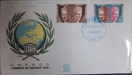 Enveloppe FDC 519 - 1965 - Unesco - YT Serv 24 26 - 1960-1969