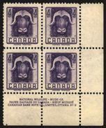 Canada Kanada 1955. **MNH. Musk-ox Moschusochse Bœuf Musqué Sheet Corner With Margins - Sellos
