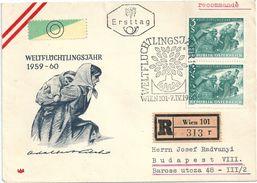 5597 Austria FDC Refugee Year Registered RARE - Geschichte