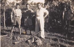 ASIE  ?---MINI PHOTO D'un Tigre Abattu---voir 2 Scans - Photographie