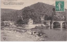 Bg - Cpa VILLEFRANCHE De ROUERGUE - Jonction De L'Alzon Zt De L'Aveyron - Villefranche De Rouergue