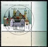 BRD - Michel 2388 ECKE REU - Zentrish OO Gestempelt (C) - 1300 Jahre Arnstadt - [7] République Fédérale