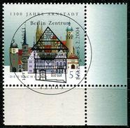 BRD - Michel 2388 ECKE REU - Zentrish OO Gestempelt (D) - 1300 Jahre Arnstadt - [7] République Fédérale