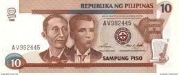 PHILIPPINES 10 PESOS 1998 P-187c UNC WMK: MABINI & BONIFACIO [PH1041c] - Philippines