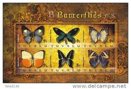 TUVALU  1104  MINT NEVER HINGED MINI SHEET OF BUTTERFLIES-INSECTS   # M-857-1  (   0913 - Vlinders