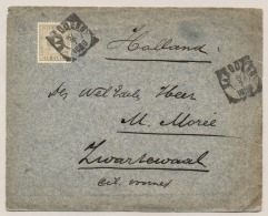 Nederlands Indië - 1898 - 15 Cent Hangend Haar Op Cover Van Bandoeng Naar KR ZWARTEWAAL / NL - Nederlands-Indië
