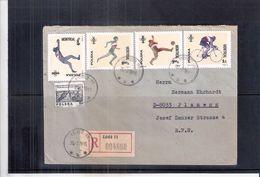 JO Montréal 1976 - Lettre Recommandée De Lodz(Pologne) Vers L'Allemagne (à Voir) - Ete 1976: Montréal