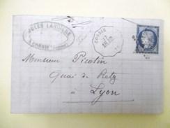 Lettre Avec Cérès N° 60C TAD Convoyeur Station Corbie étoile Muette Indice 10 - Postmark Collection (Covers)