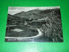 Cartolina Introd - Panorama E Sfondo Monte Bianco 1955 Ca - Italy