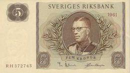 SWEDEN 5 KORONOR 1961 P-42f UNC-  [SE42f] - Sweden