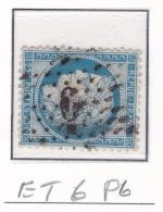 Etoile 6 P6 Sur 60c - Marcophilie (Timbres Détachés)