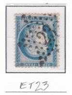 Etoile 23 Sur 60c - Marcophilie (Timbres Détachés)