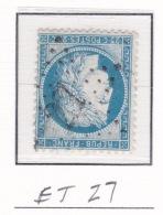 Etoile 27 Sur 60c - Marcophilie (Timbres Détachés)