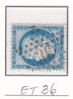 Etoile 36 Sur 60c - Marcophilie (Timbres Détachés)