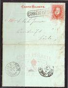 1886 Better Letter Card 50 Reis Cancel CORREIO URBAN… (b12) - Postwaardestukken