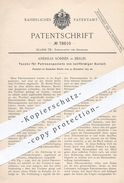Original Patent - Andreas Söhner , Berlin , 1893 , Tasche Für Patronenpakete   Patronen , Waffen , Gewehr , Revolver !!! - Historische Dokumente