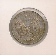 Rara Medalla De Mondariz 1901 - Pontevedra Galiza - Recuerdo De Mondariz A Los Expedicionarios Portugueses - Balneario - Spain