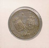 Rare Medal Military Silver - Rara Medalla De Mondariz 1901 - Pontevedra - Recuerdo Mondariz Expedicionarios Portugueses - Other