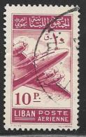 Lebanon, Scott # C176 Used Airplane, 1953 - Lebanon