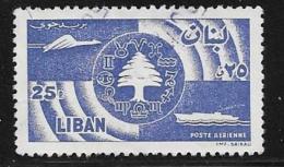 Lebanon, Scott # C249 Used  Cedar, Communications, 1957 - Libano