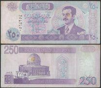 Central Bank Of Iraq 250 Dinars 2002 Saddam Hussien Banknote - Bank Note - Iraq