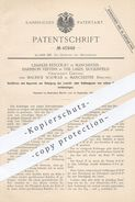 Original Patent - Ch. Estcourt U. Maurice Schwab / Manchester , Harrison Veevers , Lakes Duckinfield   Reinigung Von Gas - Historische Dokumente