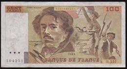 """1993 BANQUE De FRANCE 100 FRANCS """"DELACROIX"""" CRISP HIGH GRADE. - 1962-1997 ''Francs''"""
