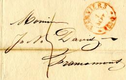 1833 VERVIERS Bf 5 Dec Taxe N.Francomont - 1830-1849 (Independent Belgium)