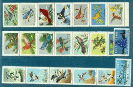 USA . OISEAUX 21 Vignettes Différentes Du NWF Entre 1954 Et 1960 Neuves. - Varietà, Errori & Curiosità